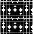 Black and white abstract geometric seamless vector image