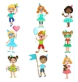 Kids On Birthday Party Set vector image