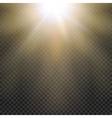 Natural sun Yellow light effect Sun rays sun vector image