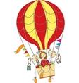 balloon flight vector image