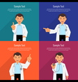 Character doctor in a white coat vector image