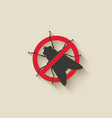 fly warning sign vector image