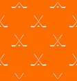 ice hockey sticks pattern seamless vector image