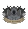 Medieval knight logo Color vector image