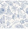 Sketch sea travel pattern vector image