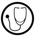 stethoscope black white icon vector image