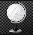 volleyball a creative concept simple vector image
