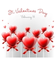 Valentines Day card with lollipops heart shaped vector image vector image