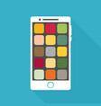 smartphone icon in iphone style smartphone icon vector image