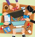 Desk flat design vector image vector image