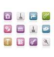 construction and diy icons vector image vector image