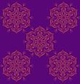 Hand drawn mandala abstract circle ornament vector image