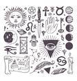 Set of trendy esoteric symbols collection vector image