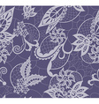 Abstract lace with elements of flowers leaves and vector image