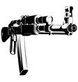 black and white machine gun ak vector image