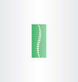 green healthy spine icon vector image