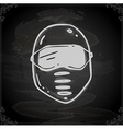 Hand Drawn Safety Mask vector image
