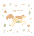 New Year card with a horse vector image