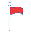 success flag isolated icon vector image