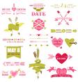 Valentine and Wedding Graphic Set vector image