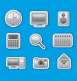 computer system stickers vector image
