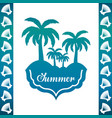 emblem of a palms over white background vector image