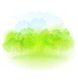 watercolor spring landscape vector image