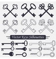 Crossed keys set - vector image