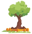 green tree flat vector image