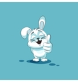 isolated Emoji character cartoon White leveret vector image