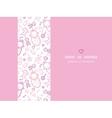 Baby girls horizontal frame seamless pattern vector image