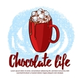 Cocoa Drink Poster vector image
