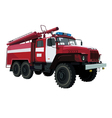 fire engine vehicle vector image