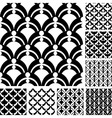 Graphic patterns set vector image