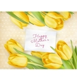 Happy Mother Day Tulips Flower EPS 10 vector image