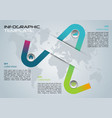 modern infographics with colorful element vector image
