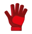 red goalkeeper glove vector image