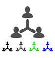 social relations flat icon vector image