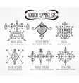 Voodoo spiritual dieties symbols set vector image