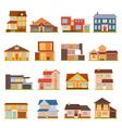 Cottage House Building Set vector image