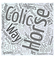 What causes colic Word Cloud Concept vector image