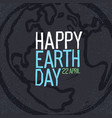 happy earth day 22 april earth symbol and text vector image vector image