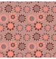 Brown doodle seamless flower pattern vector image vector image