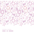 Baby girls horizontal border seamless pattern vector image