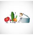Set of vegetables for cooking soup design vector image