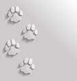 cat paw flat vector image vector image