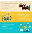 Students Banner Set vector image