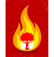 tree fire vector image vector image