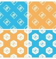 3D movie pattern set colored vector image