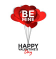 valentine card with paper hearts 3 vector image vector image